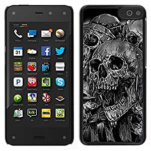 Stuss Case / Funda Carcasa protectora - Goth Evil Skulls B & W - Amazon Fire Phone