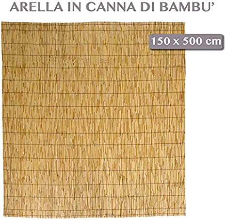 Professional Arella Bamboo Da Esterno Giardino Pulita Per Arredo Esterno Piscina 150x500 Cm Amazon It Giardino E Giardinaggio