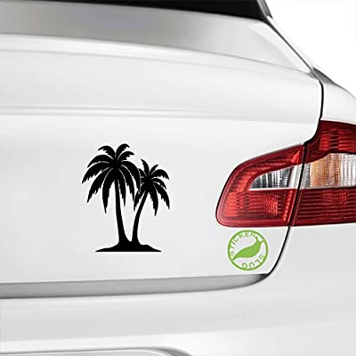 Tropical Palm Trees Decal Sticker (Black, 5 inch): Home & Kitchen