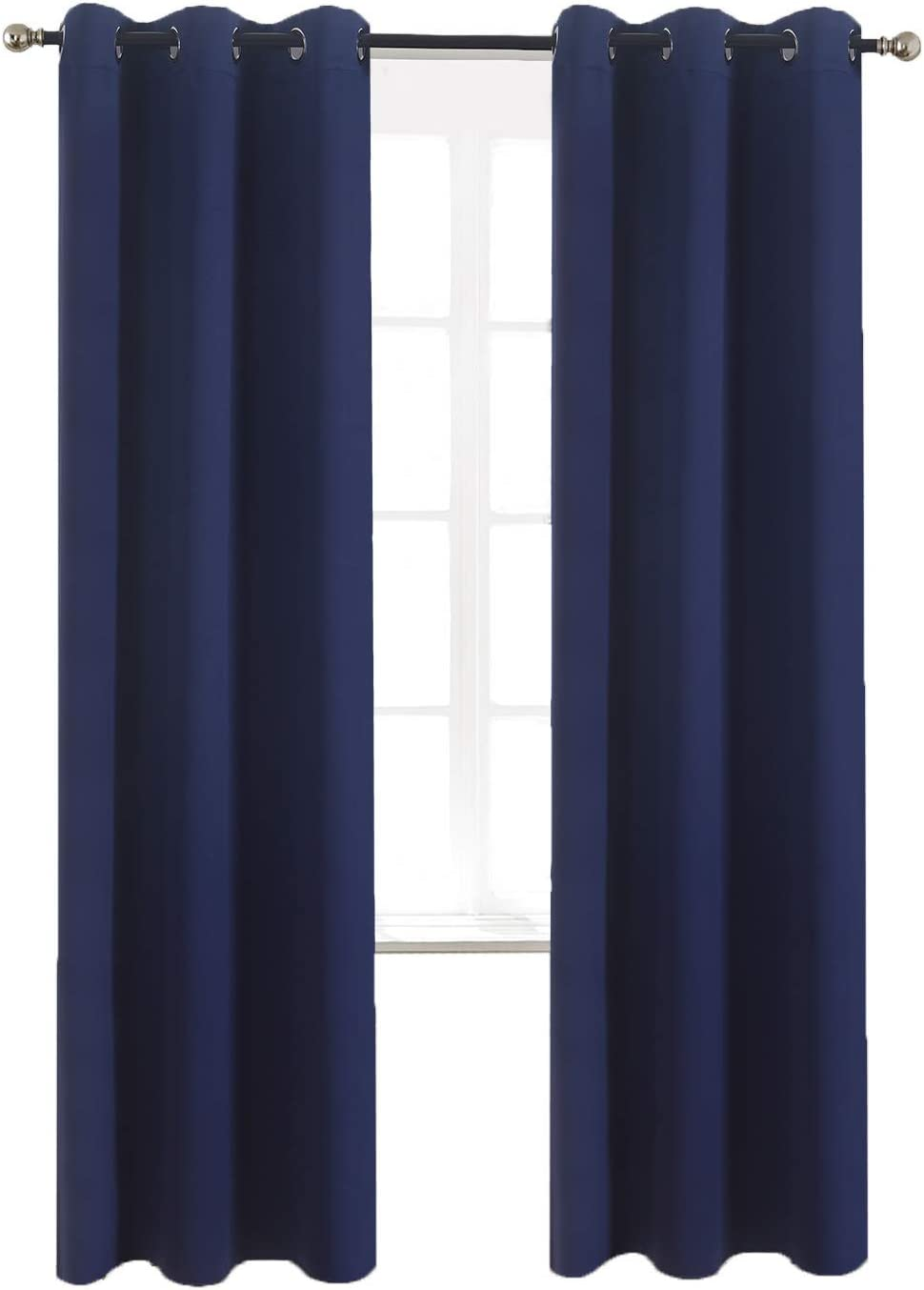 Blockout Curtain Drape Sheer Eyelet Blue Pink Kids Bedroom Grommet Window Fabric