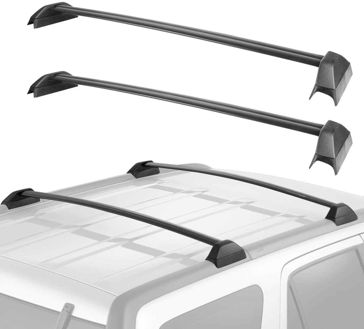 MOSTPLUS Roof Rack Cross Bar Rail Compatible with Honda CRV 2012 2013 2014 2015 2016 CR-V Cargo Racks Rooftop Luggage Canoe Kayak Carrier Rack