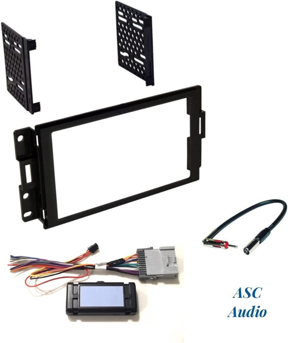 Double Din Dash Kit Stereo Radio Installation Install Kit w Wire Harness Antenna