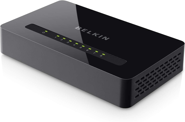 E4G0800 Belkin 8-Port 10//100 Network Switch