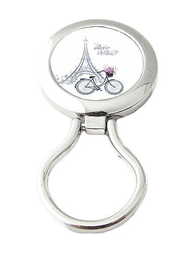 ChicaChicBiarritz Porta Occhiali Magnetico - Spilla Clip Magnetica Da Indossare (Bonjour Paris)