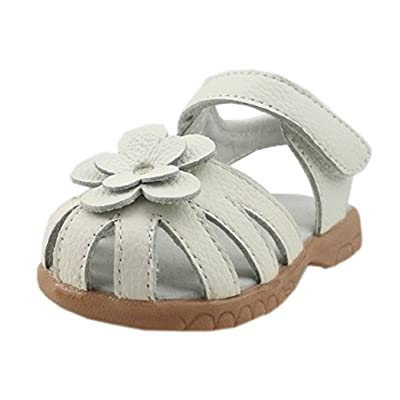7139d8bf5d8ce Dream-Studio Girls Genuine Leather Solid Flower Sandals ...