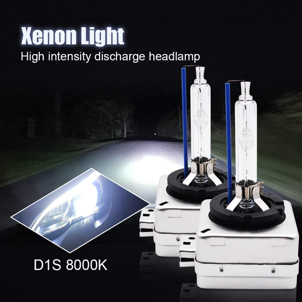 LncBoc D1S Xenon HID Headlight Bulbs 35W Headlamp Lights Vehicle Super Bright Replacement for Car Auto 6000K Xenon White Headlight Bulbs Lights 12V D1S Pack of 2