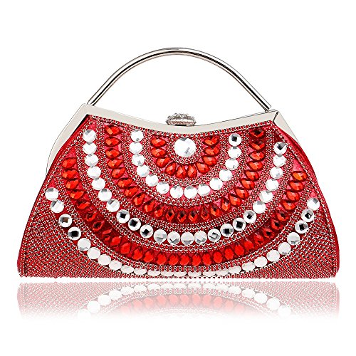 Evening High Dress end Banquet GROSSARTIG Clutch Red Women's Bag Dinner PHqq8aw