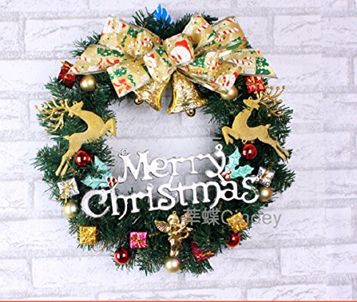 Christmas Garland for Stairs fireplaces Christmas Garland Decoration Xmas Festive Wreath Garland with Christmas wreath Christmas vines,40cm by Caribou Furniture And Decor
