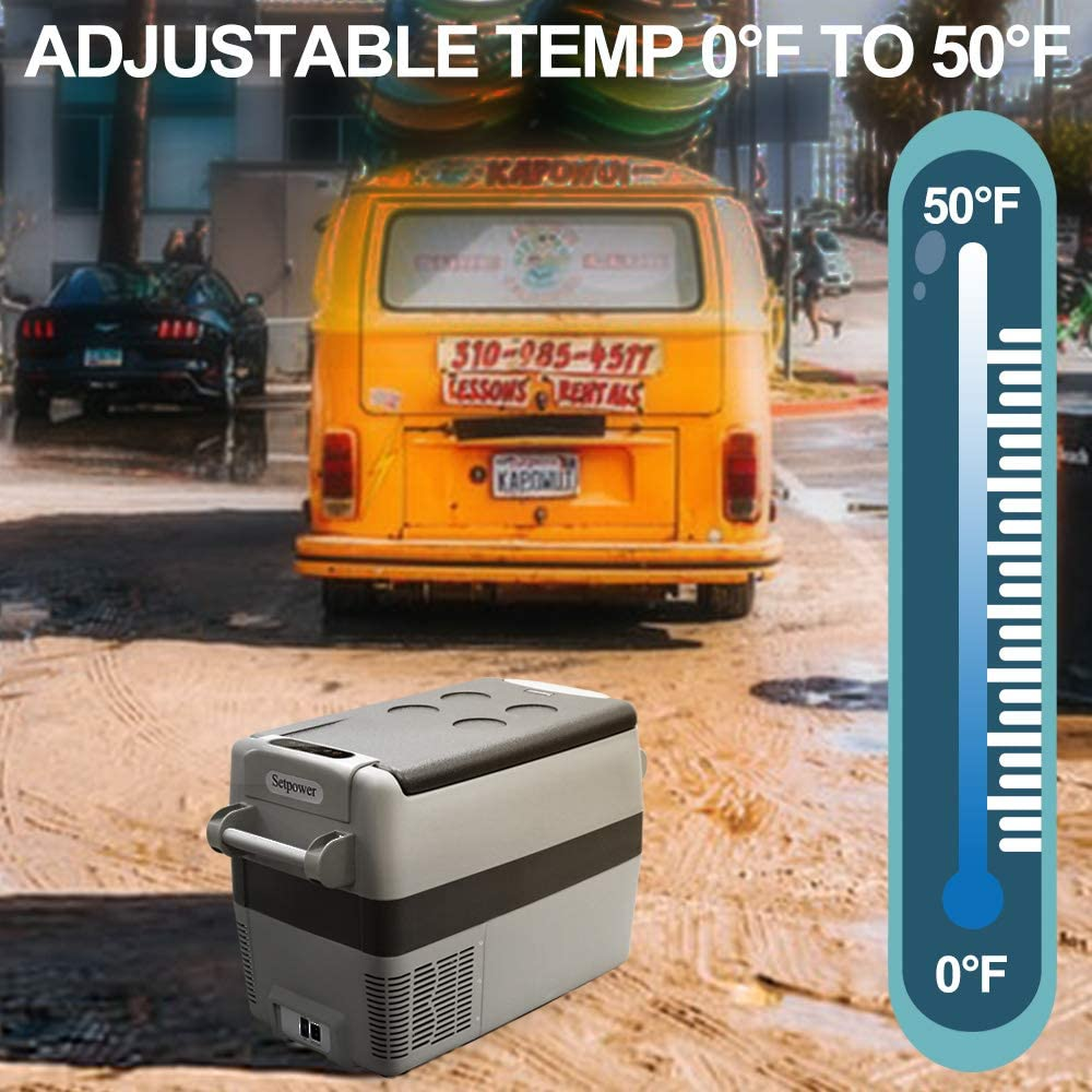 Patio DC 12//24V AC 110-240V BBQ for Truck 0℉-50℉ Camping Car Fridge Compact Refrigerator Picnic SetPower AJ50 53 Quarts Portable Freezer Fridge 12V Cooler Van Outdoor RV Road Trip