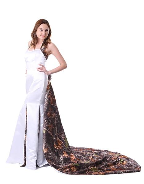ISHOWDresses Fashionable Mermaid White Camo Wedding Dress with ...