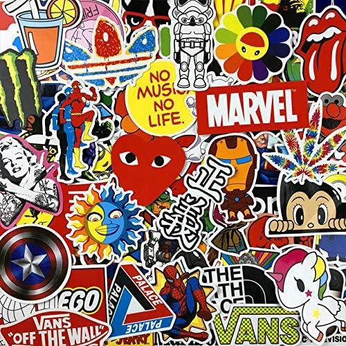 Graffiti Comic Sticker Pack Equipaje Impermeable Ordenador Skateboard Bicicleta Refrigerador Etiqueta Engomada Del Coche 100 Unids: Amazon.es: Hogar