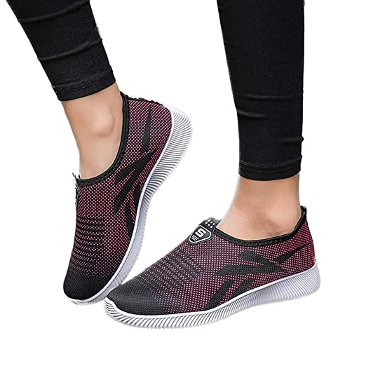 4c031c42ac4f Image Unavailable. Image not available for. Color  Oliviavan Women s Slip-On  Outdoor Casual Shoe Breathable Mesh Breathable Shoes Sneakers