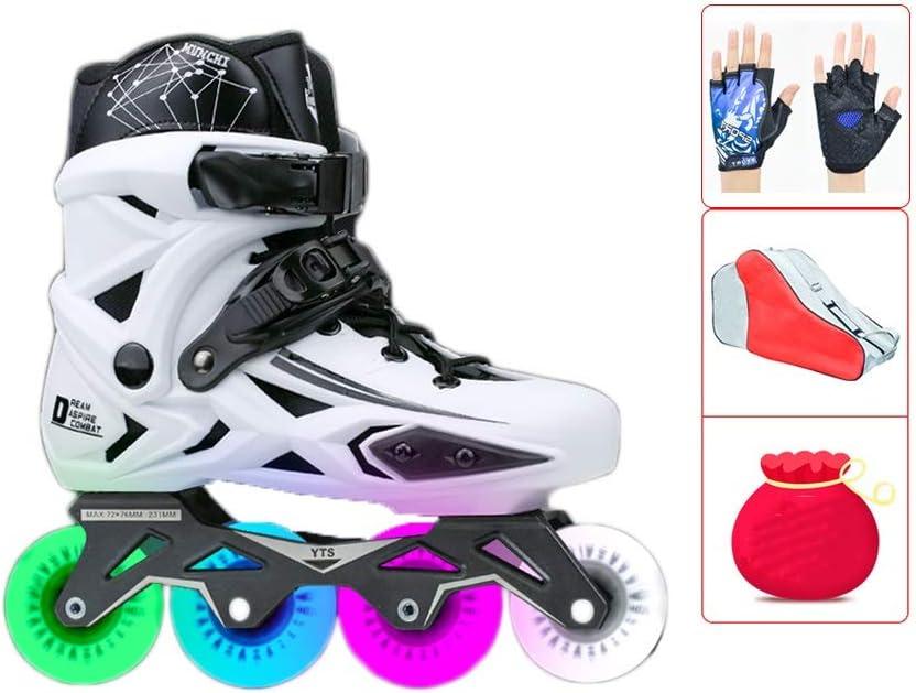 初心者 フィットネスタイプ 屋外 向け Inline Skate ,男性女の子 フィットネスタイプ 屋内 ローラースケート,大人 ジュニア贈り物 インラインスケート (Color : 白い, Size : EU 42/US 9/UK 8/JP 26cm) 白い EU 42/US 9/UK 8/JP 26cm