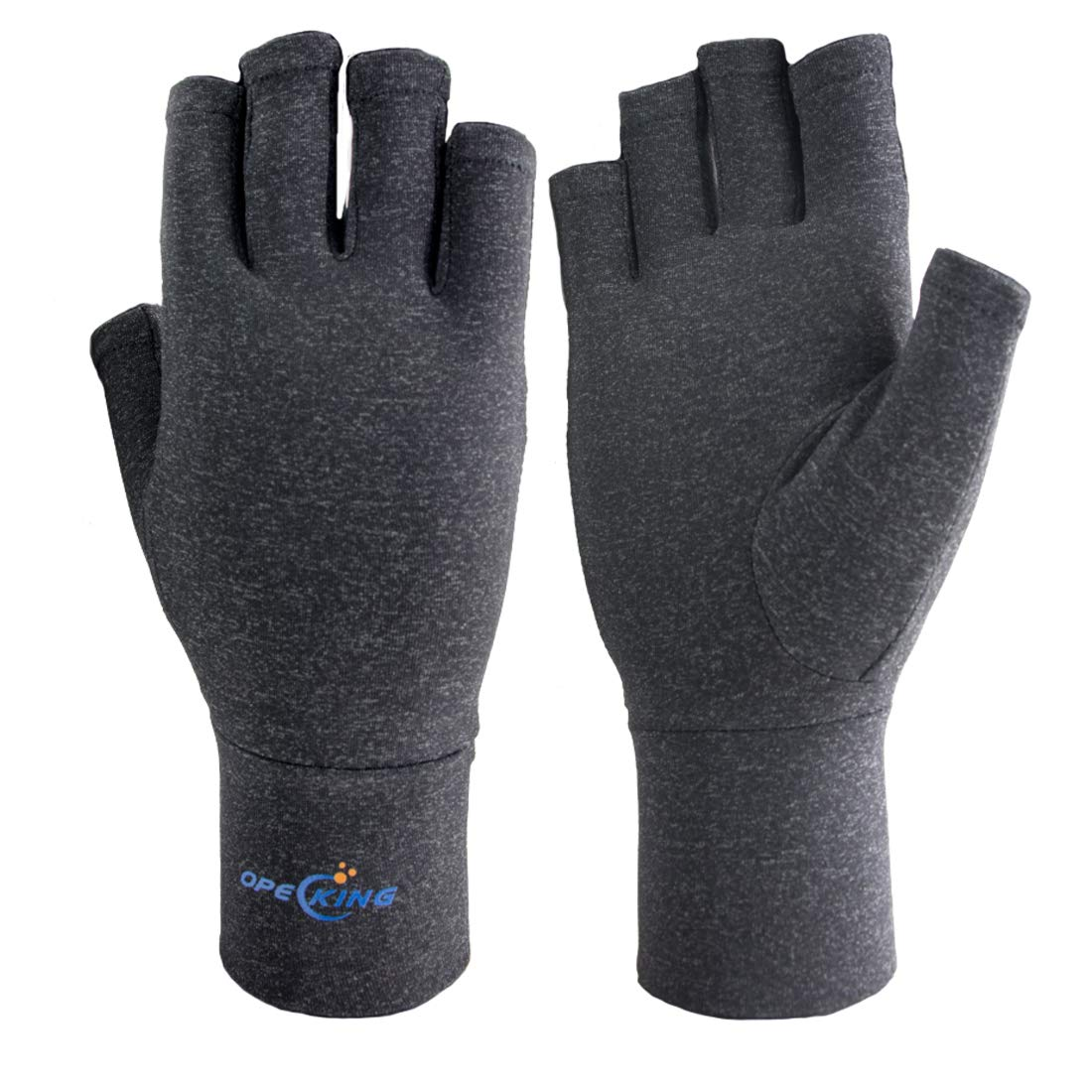 Arthritis Gloves - Compression Gloves Open Finger for Men & Women,Wrist Support for Rheumatoid & Osteoarthritis - Hand Gloves Provide Arthritic Joint Pain Symptom Relief (Large)