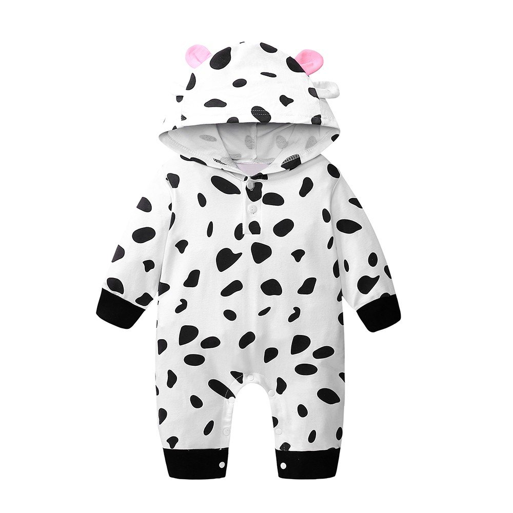 Zerototens baby romper,0-24 Months Newborn Infant Kids Jumpsuit Toddler Boys Girls Long Sleeve Animal Print Hooded Bodysuit Children Autumn Casual Outfits Clothes
