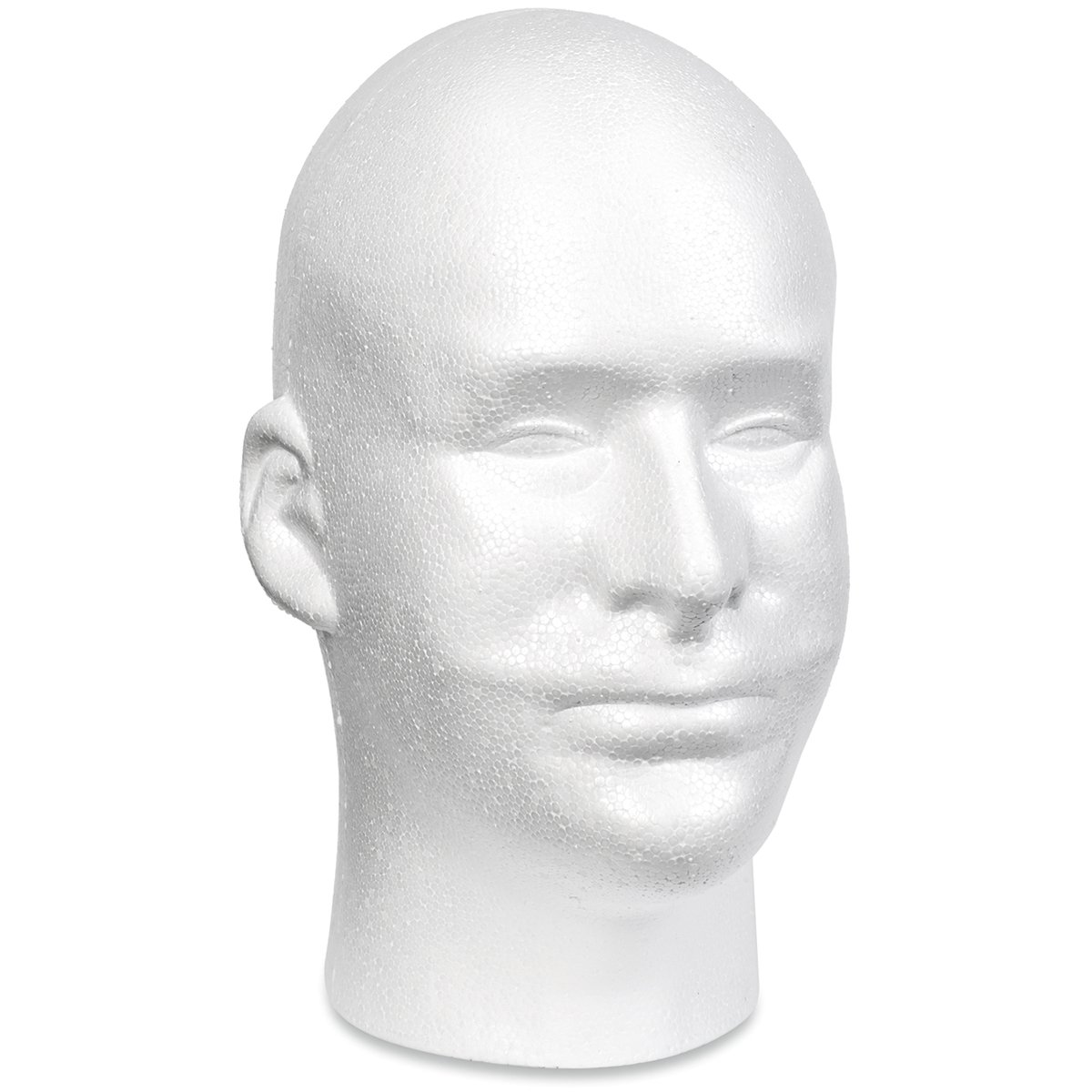 Floracraft Styrofoam Male Head Bulk-11-inch x 6.5-inch x 8.5-inch, Other, Multicoloured Notions Marketing RS261