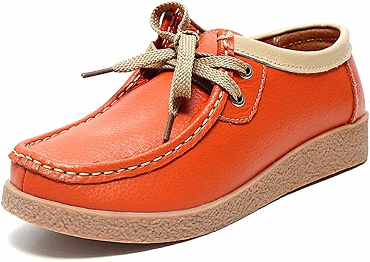 Moonwalker Zapatos Mocasines con Cordones de Cuero Mujer (EUR 39 ...