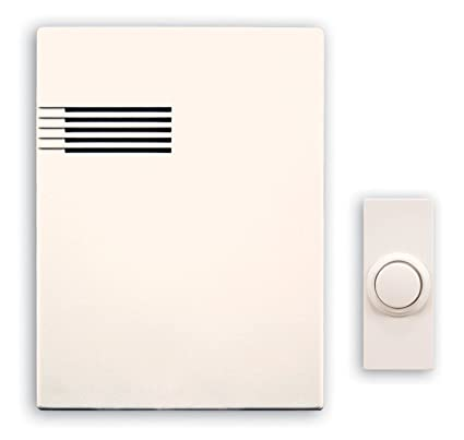 Heath/Zenith SL-6164-B Wireless Battery-Operated Musical Door Chime Kit  with 64 Tunes, White
