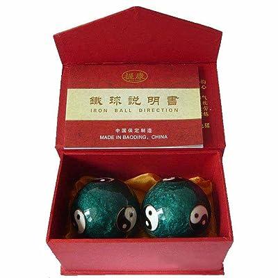 Chinois Traditionnel Ballon De Fitness Cloisonné Tai Chi Ballon De Santé Décompression Handball 50mm280g,Green