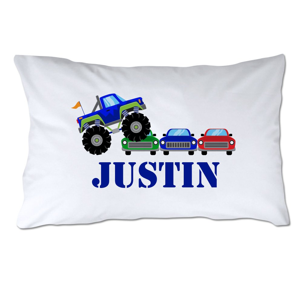 Pattern Pop Personalized Toddler Size Monster Truck Rally Pillowcase with Pillow Included by Pattern Pop