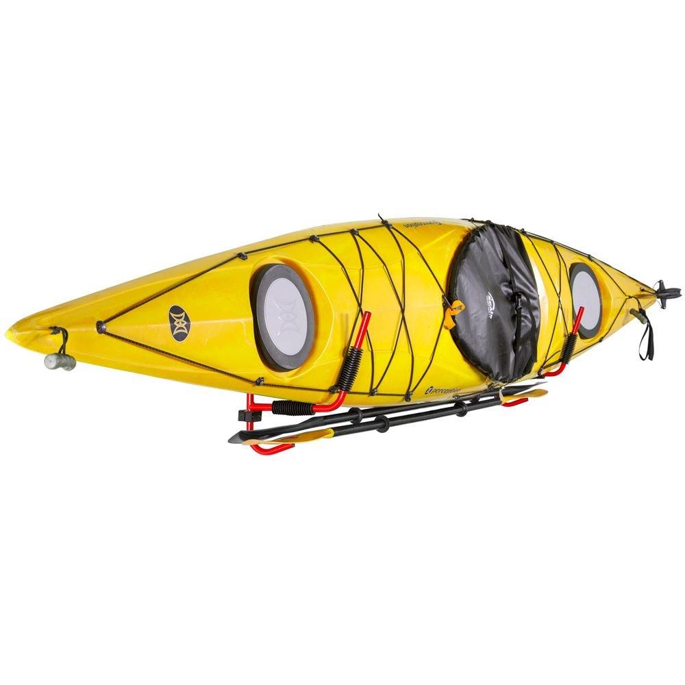 Rage Powersports Wall-Mounted Kayak Storage Rack with Paddle Hanger