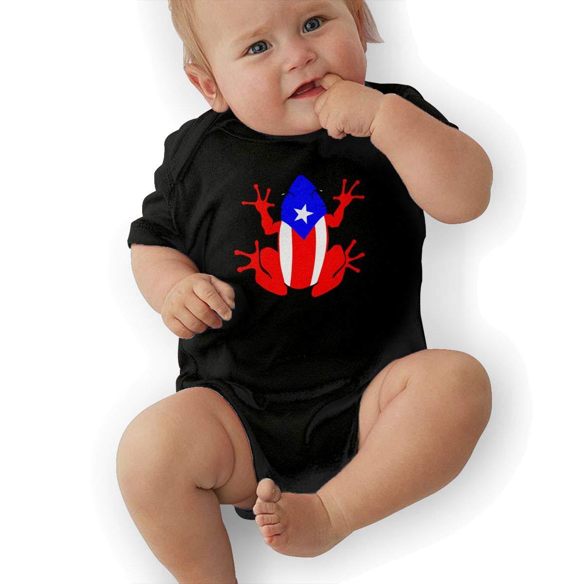Puerto Rico Se Levanta Frog Newborn Baby Girl Boy Romper Jumpsuit Short Sleeve Bodysuit Tops Clothes