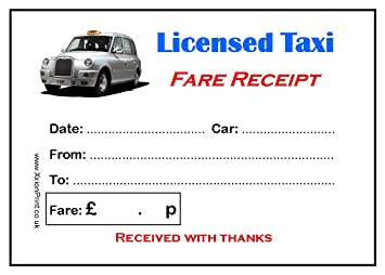 pack 6 de taxi impresa color de almohadillas taxi recibo con taxi