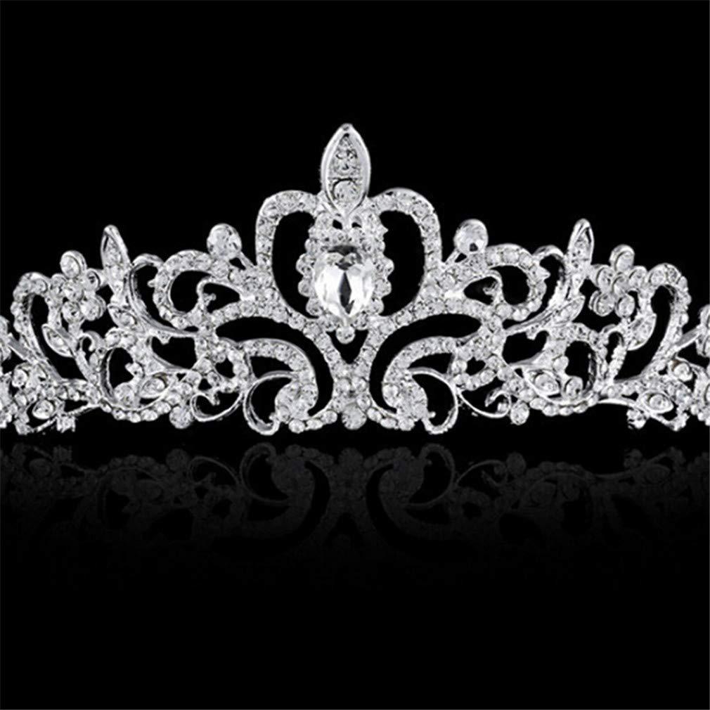 Style 1 Strass Alliage de Zinc Jixing Cristal Princesse Couronne De Mariage F/ête danniversaire Bijoux De Cheveux Diad/ème