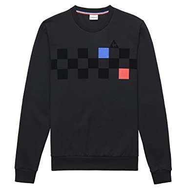 Le Coq Sportif - Sweat-Shirt - Homme Noir Noir Medium  Amazon.fr  Vêtements  et accessoires 69913f81d235
