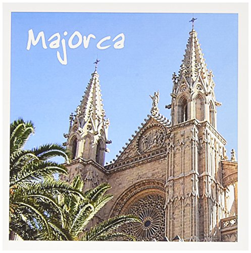 3dRose Greeting Cards, Majorca Church with Palm Trees, Spanish Cathedral of Santa Maria of Palma, Religious La Seu Spain, Set of 6 (gc_155684_1)
