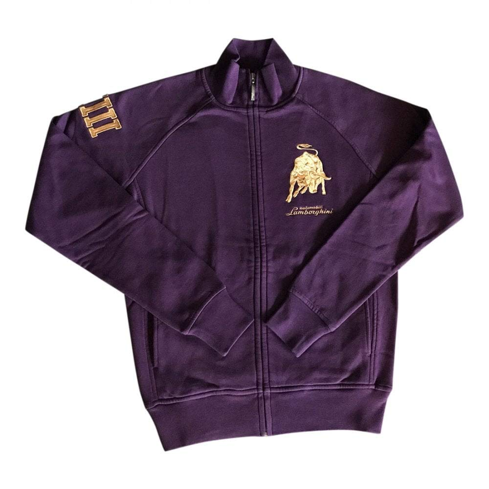 Lamborghini Zip-up Sweatshirt Men`s Bull LXIII