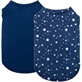 2 Pack Dog Shirt Blank and Stars - Cotton Pet Vest Clothes, Breathable Basic Dog Apparel, Dog Sweater T-Shirt Hoodie…