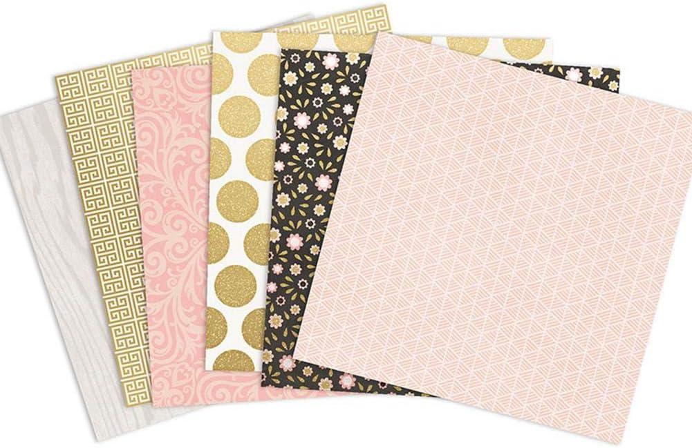 Bouncevi 24pcs Gemustertes Papier Scrapbooking Papier Romantische Blumen Vintage Album Scrapbook Karten Hintergrund Papier 15.2 X 15.2cm