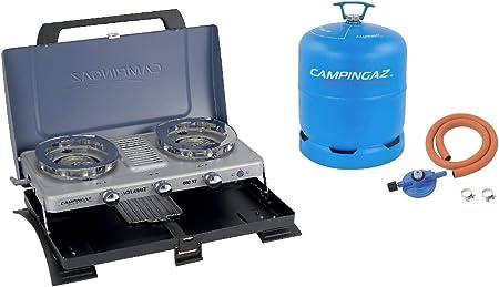 CAMPINGAZ 400 St - Burner doble y toaster azul + Free Hose ...