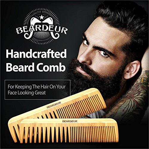 beardeur premium master beard kit boar bristle brush beard comb small mustache comb. Black Bedroom Furniture Sets. Home Design Ideas