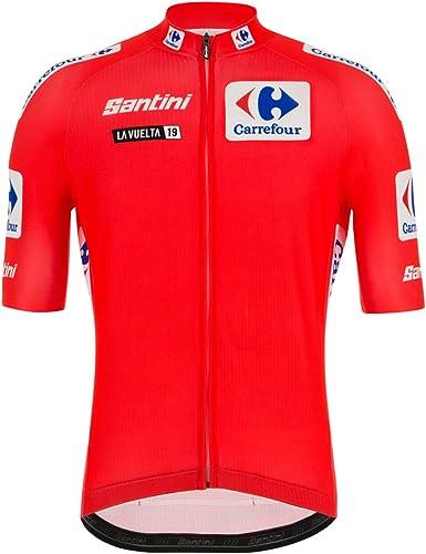 Santini La Vuelta 2019 – Camiseta Leader de Manga Corta para Hombre, Hombre, RE9427519LV: Amazon.es: Ropa y accesorios
