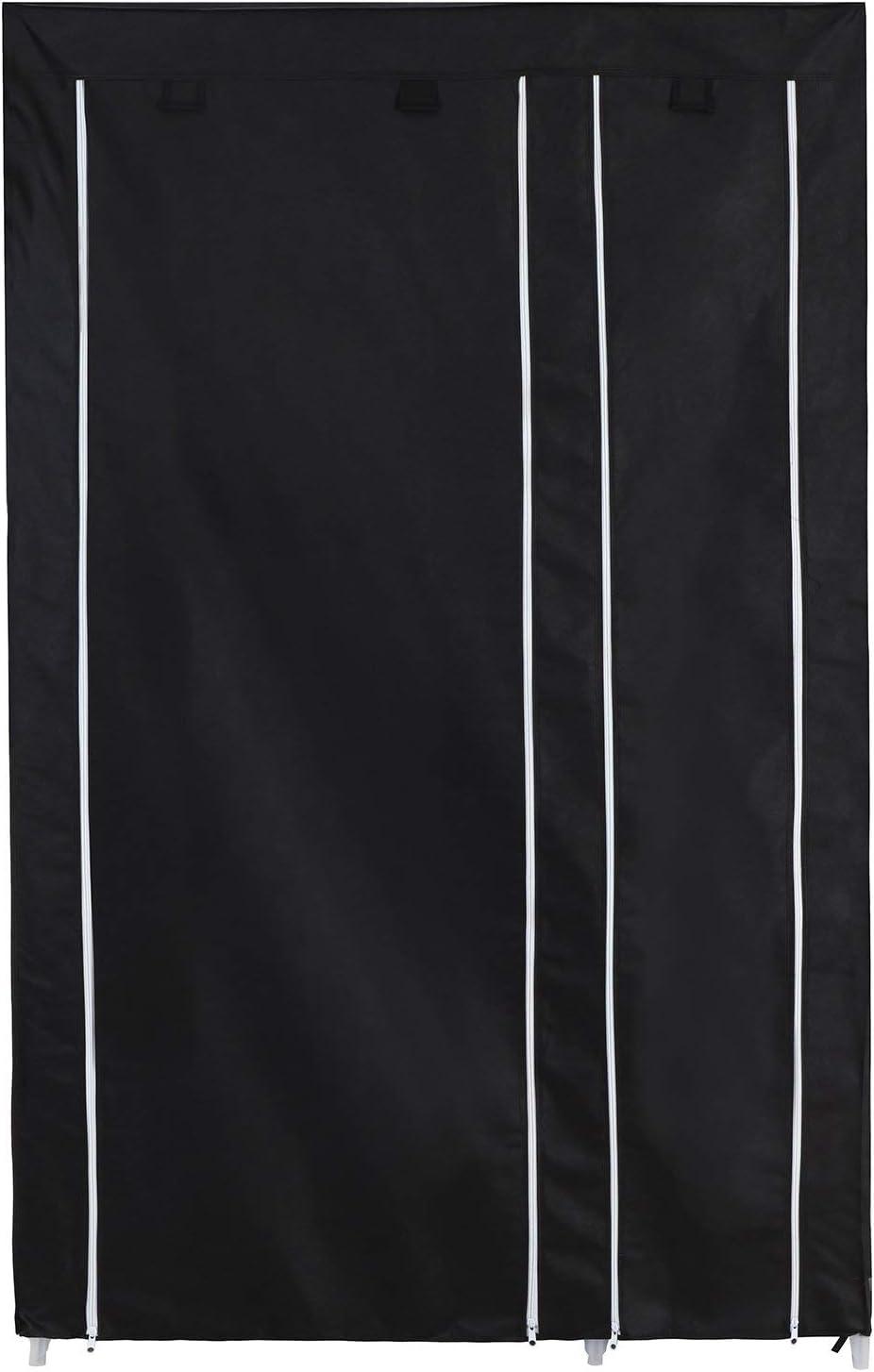 SONGMICS Armario de Tela para Ropa 175 x 110 x 45 cm Gris LSF007G Organizador Textil Plegable