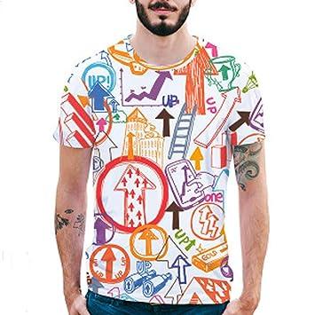fb3386cf6 X-i^i Men's Novelty Shirts 3D Print Tiger Casual Slim Short-Sleeved Big  Tall Top Blouse Tank for Men Undershirts Premium T Shirt Graphic Funny