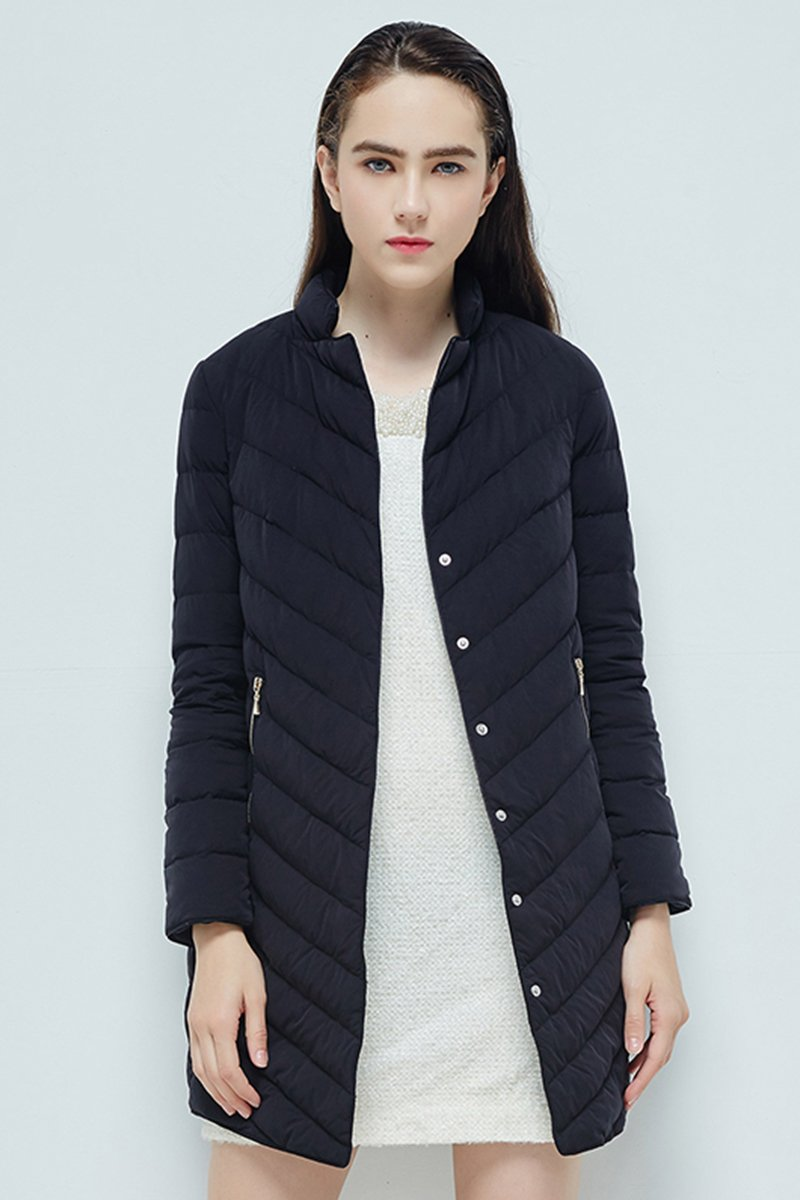 Generic Bosideng_ thin _goose_ down _90%_commute_ long _section_a_ suit jacket collar Women girl _1601060