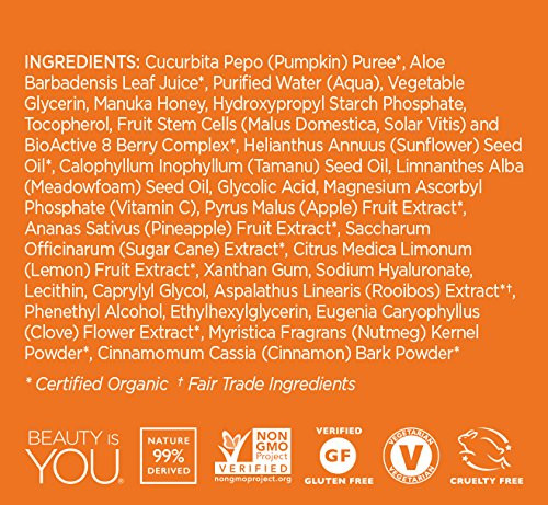 Andalou Naturals Pumpkin Honey Glycolic Mask, 1.7 oz, Cleans & Exfoliates Skin for Brighter, Toned, Youthful Looking Skin by Andalou Naturals (Image #3)