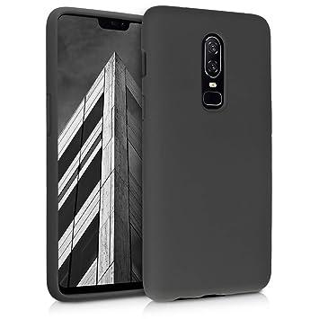 kwmobile Funda para OnePlus 6 - Carcasa de [TPU] para teléfono móvil - Cover [Trasero] en [Verde Oliva]