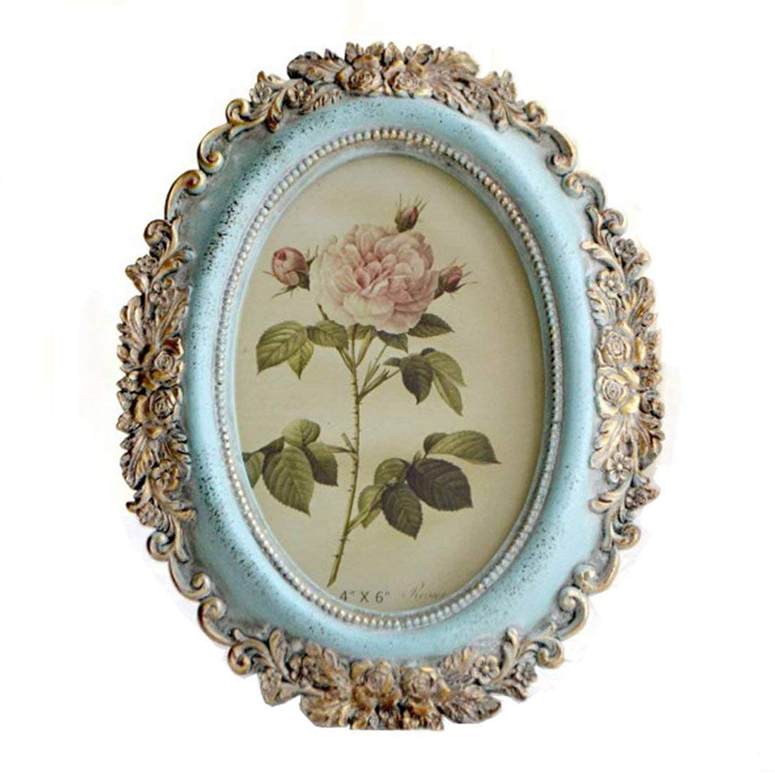 Vintage Picture Frame 4x6 Family Oval Table Top Photo Frame Wall Mounting Photo Frame for Home Decoration Ltd SIKOO-HK-PF-010