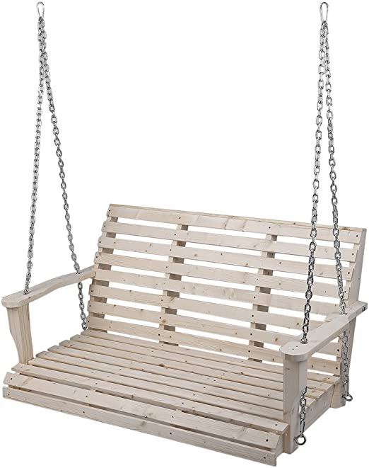 Sillas colgantes para jardín, porche, columpio, banco, asiento de madera, sillas de césped, sillas exteriores con