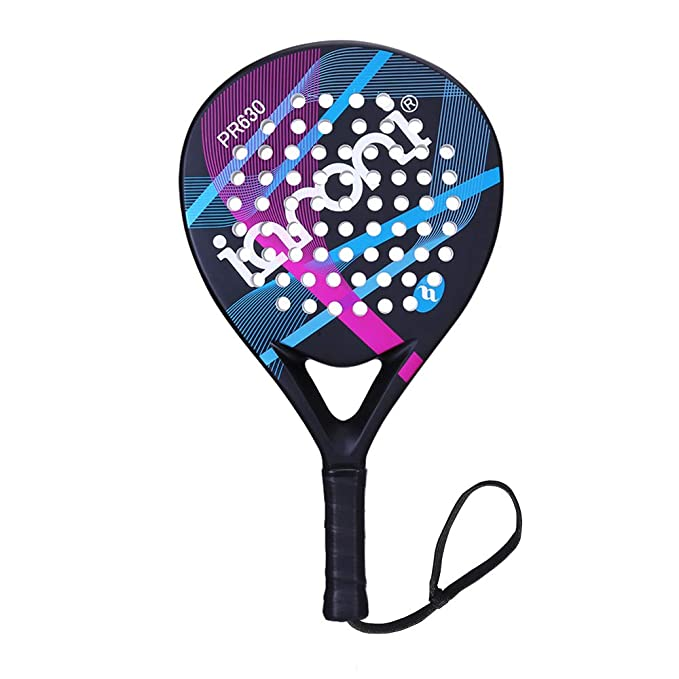 Amazon.com : ianoni Tennis Padel Beach Racket Tennis Paddle with Carbon Fiber Face and EVA Memory Foam Core-Used Interchangeably for Paddle(Padel ) and ...