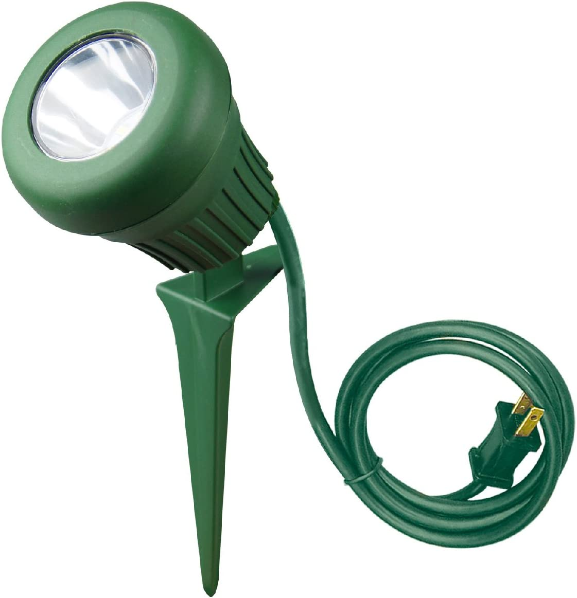 Woods 434 LED Outdoor Garden Flood Light with Stake, 3-Feet SJTW Cord
