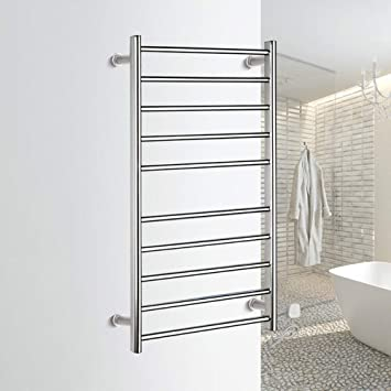 HL Toallero eléctrico, termostático Calentador eléctrico toallero radiador baño, baño Secado Rack Acero Inoxidable baño Toalla Rack 950X500X125: Amazon.es: ...