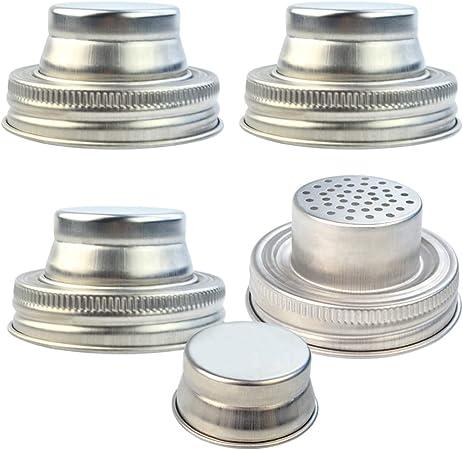 Amazon Com Obmwang 4 Pack Of Stainless Steel Mason Jar Shaker