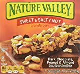 Nature Valley  Dark Chocolate, Peanut and Almond Sweet and Salty Nut Granola Bars, 6 Count Box