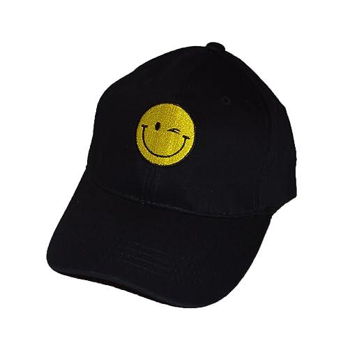 KGM Accessories Cool Nueva Happy Face Lema Gorra de béisbol Negro ...