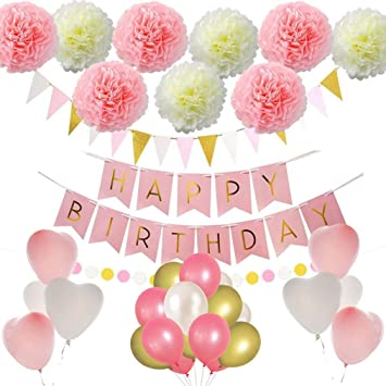 Amazon.com: First Birthday Decorations Princess Birthday ...
